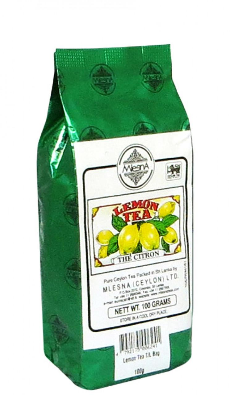Черный чай Лимон, LEMON BLACK TEA, Млесна (Mlesna) 100г.