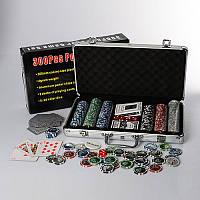 Настольная игра покер M 2778, набор для покера300 фишек