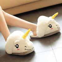 Тапочки Кигуруми Белый Единорог