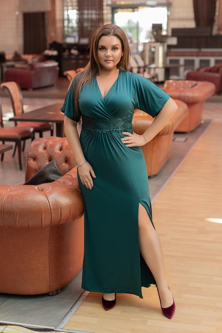 f10f2f24772 Шикарное вечернее длинное платье макси больших размеров до 58-го - Стильная  женская одежда оптом