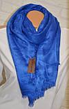 Женский платок Louis Vuitton Monogram (в стиле Луи Витон) синий, фото 2