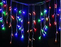 Уличная Светодиодная гирлянда Бахрома ,RGB, разноцветная, 3х0.8м, 105 LED Белый провод