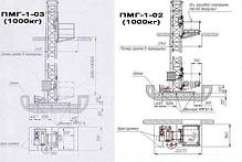 Высота подъёма Н-15 метров. Строительные мачтовые грузовые подъёмники ПМГ г/п 1000кг, 1 тонна., фото 2