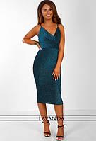 Модное платье с люрекса новинка 2018, фото 1