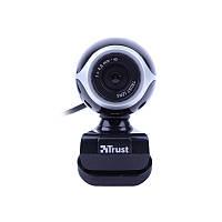 Веб-камера 0.3 Мп с микрофоном Trust Exis Webcam Black Silver -17003