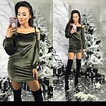 Женское бархатное платье (3 цвета), фото 2