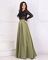 Костюм женский блуза + юбка в пол в расцветках 3330, фото 1