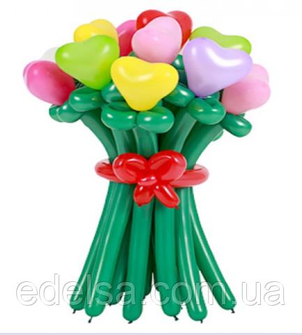 """Букет из воздушных шаров """"признание сердечки"""" 11 шт"""
