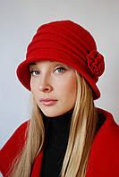 Шляпа красная шерстяная