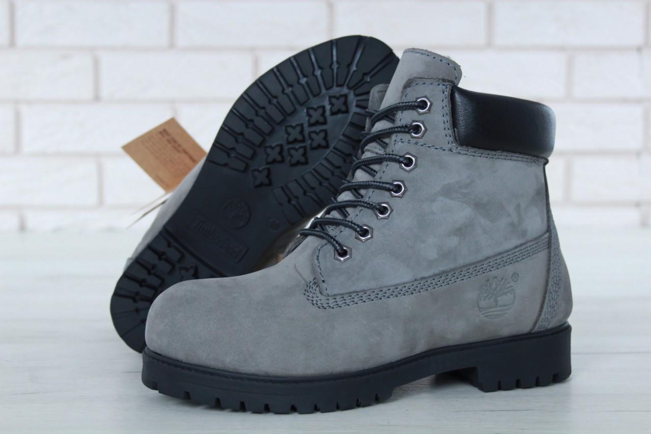 7e7ad738341a Зимние женские ботинки Timberland Grey (Тимберленд, серые), внутри  натуральный мех