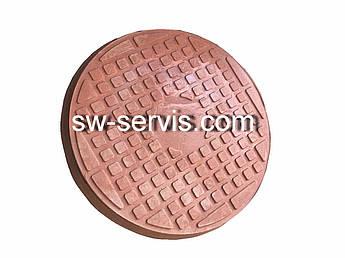 Люк полімерний коричневий 1 тону