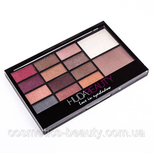 Тени+хайлайтеры Huda Beauty Love in eyeshadow Fashion eyeshadow 14 цветов (Палитра 1)