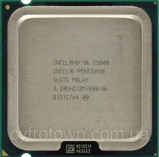 Процессор Intel Pentium dual core E5800 2x3.2 GHz S775