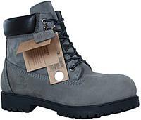 23e0c8e7e7e7 Зимние мужские ботинки Timberland Grey (Тимберленд, серые) внутри  натуральный мех