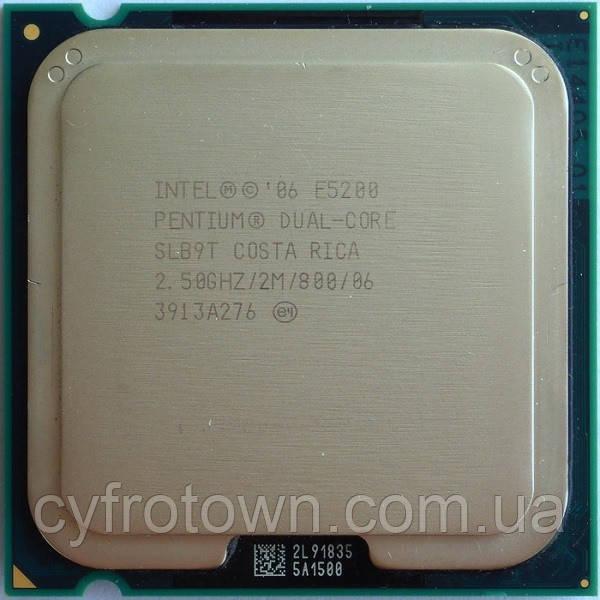 Процессор Intel Pentium dual core E5200 2x2.5 GHz S775
