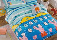 Детское постельное белье Свинка Пеппа (полуторный комплект)