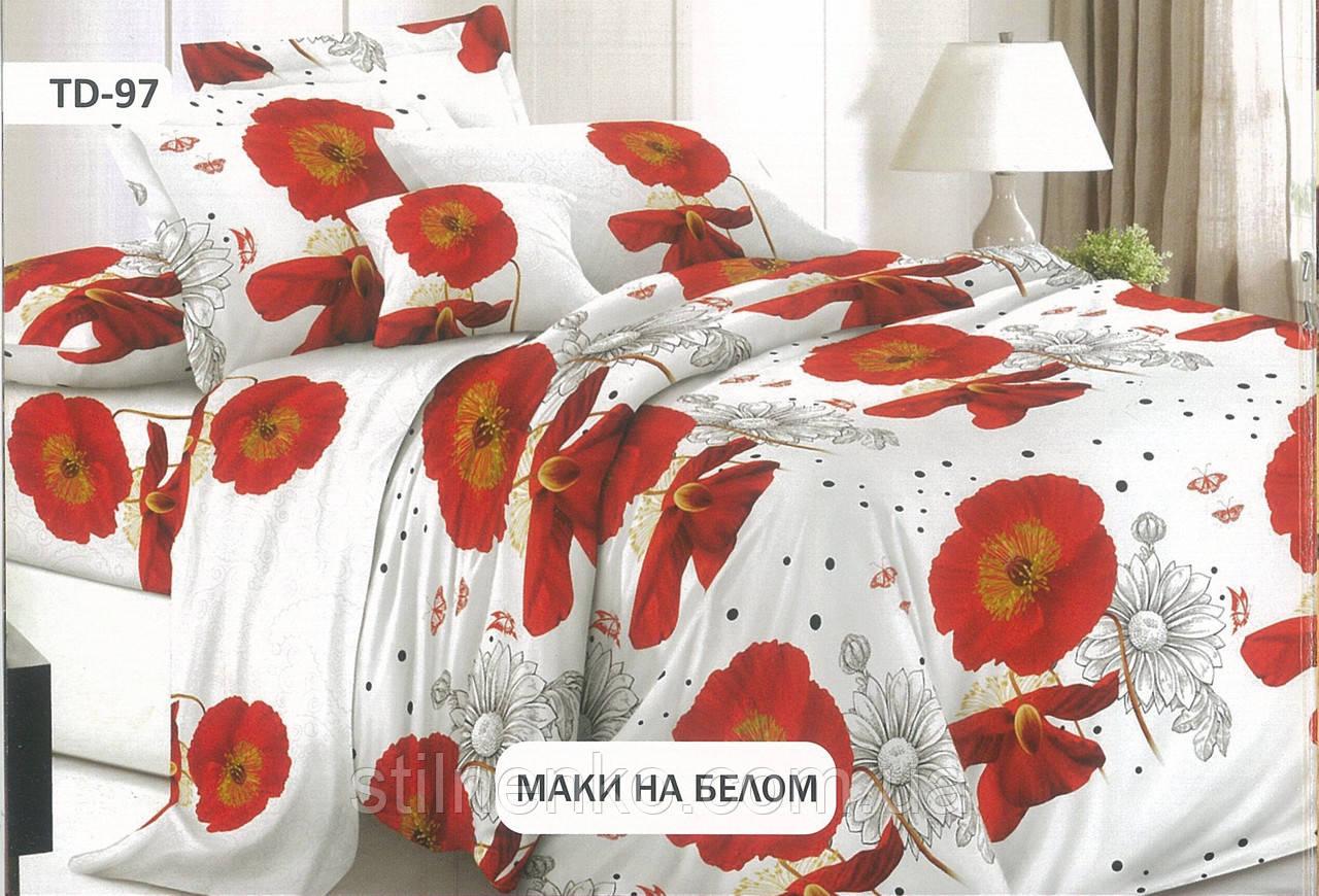 """Комплект постельного белья бязь Тиротекс """"Маки на белом"""""""