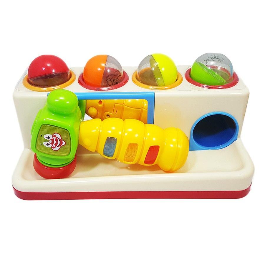 Развивающая игрушка Стучалка (молоток, шарики) со светом и музыкой (332)