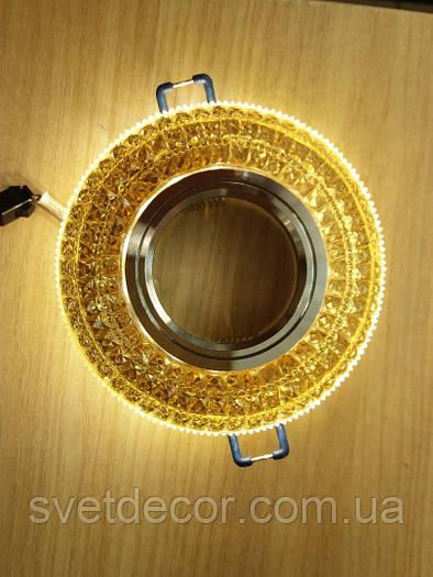 Точечный светильник Feron CD877 c LED подсветкой чайный