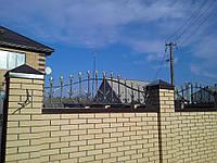 Кованый забор навершие