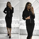 Женский костюм из ангоры: платье-миди и кофта (3 цвета), фото 2