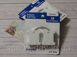 Набор пластиковых бобинок для мулине с кольцом Janlynn