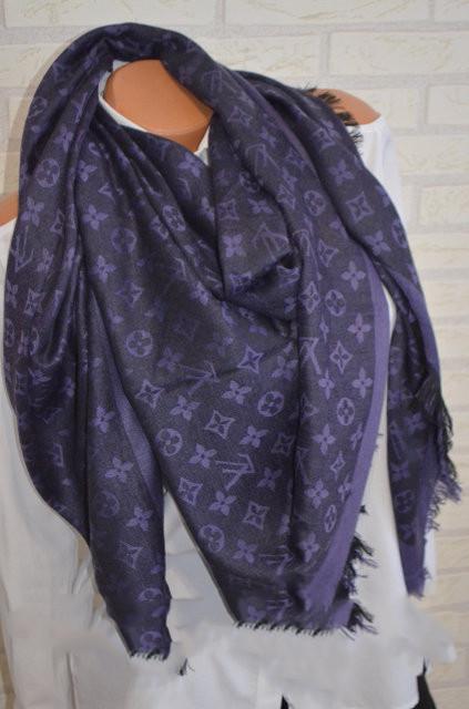 Женский платок Louis Vuitton Monogram (в стиле Луи Витон) фиолетовый