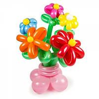 """Букет из воздушных шаров """"ромашки большие и малые на основе"""" 5 шт"""