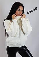 "Вязаный женский свитер ""Арчи"", молоко, фото 1"