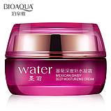 Крем, повышающий упругость, с гиалуроновой кислотой и хризантемой BioAqua Water Deep Moisturizing Cream 50ml, фото 2