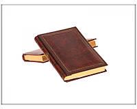 Дневник кожаный Florentia Фрет DIA3000002 15 x 22 см, в линию, кремовая бумага, золотой срез