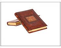 Дневник кожаный Florentia Leonardo DIA3602001 15 x 22 см, в линию, кремовая бумага, золотой срез