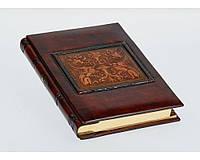 Дневник кожаный Florentia Dragons 15 x 22 см, в линию, кремовая бумага, золотой срез