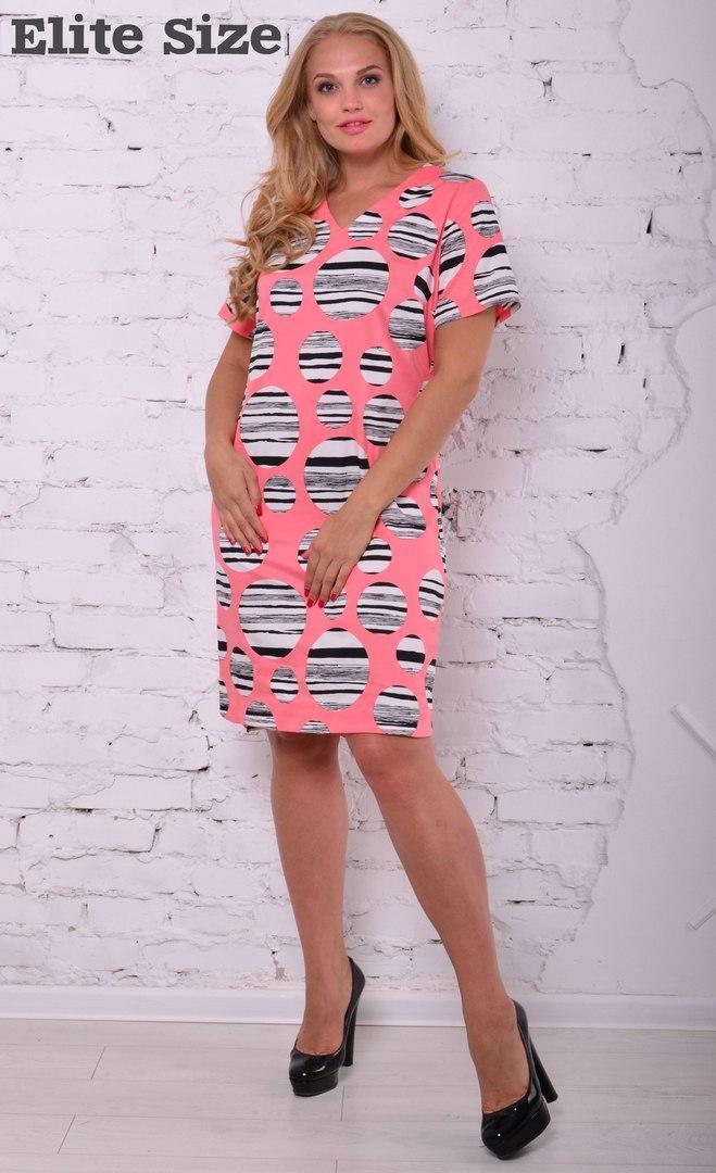 Яркое платье-рубашка waze+ m-6uk117