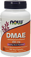 NOW DMAE 250 mg 100 veg caps, НАУ ДМАЕ 250 мг 100 капсул
