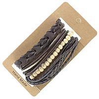 Мужской кожаный браслет на завязках (фенечка)