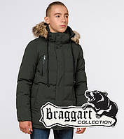 Подросток 13-17 лет    Зимняя куртка Braggart Teenager 25210 темно-зеленая