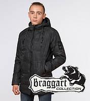Подросток 13-17 лет    Зимняя куртка Braggart Teenager 25060 черная