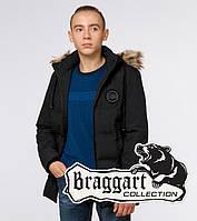 Подросток 13-17 лет    Куртка зимняя Braggart Teenager 25550 черная