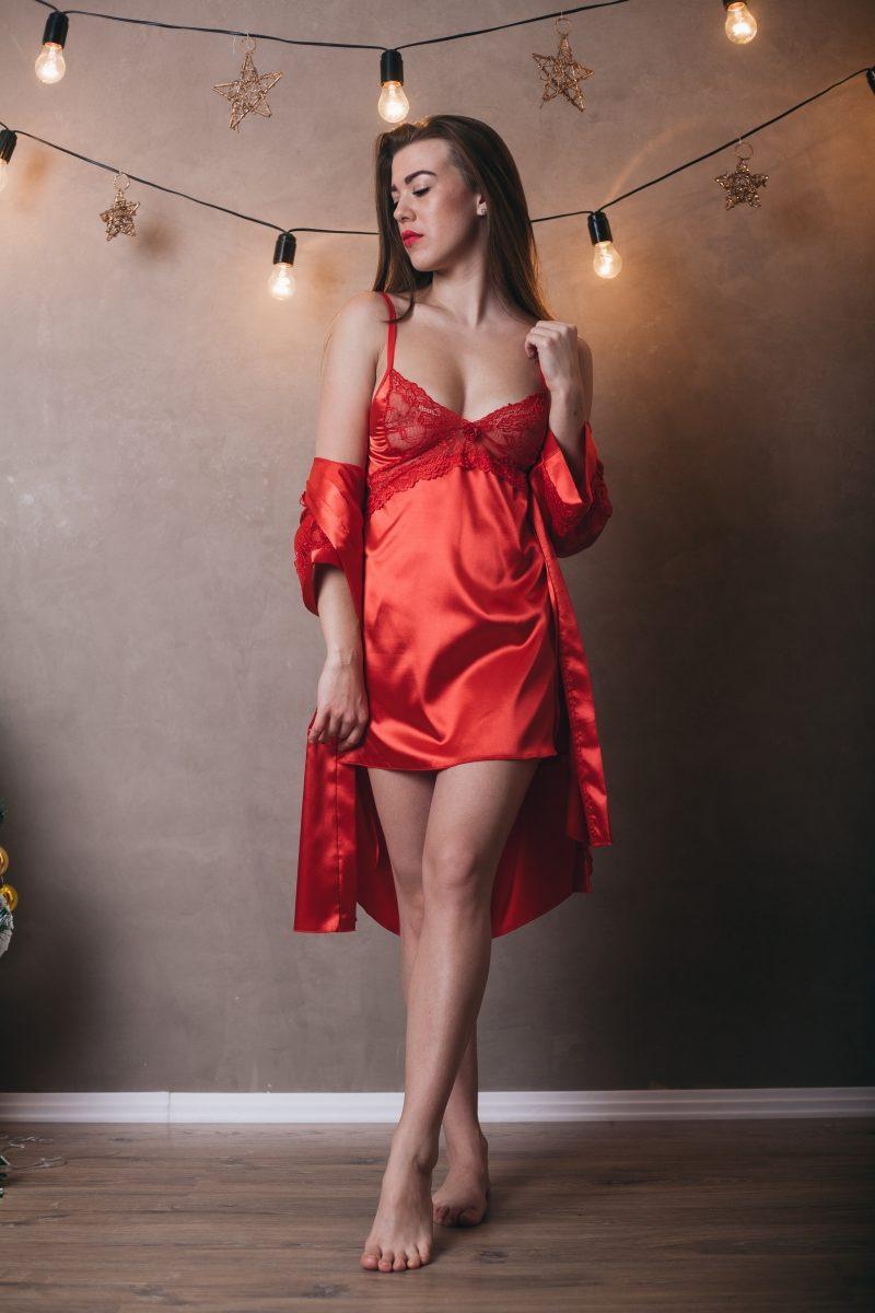 1f93e8b702e Модный пеньюар красного цвета: продажа, цена в Хмельницком. пеньюары ...