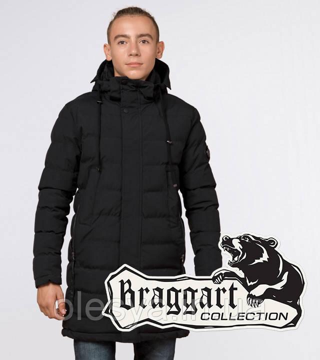 Подросток 13-17 лет    Зимняя куртка Braggart Teenager 25160 черная