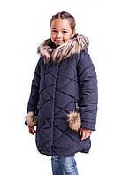 Куртки зимние для девочек от производителя  34-40 синий