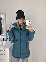 Удлиненная куртка полупальто зима