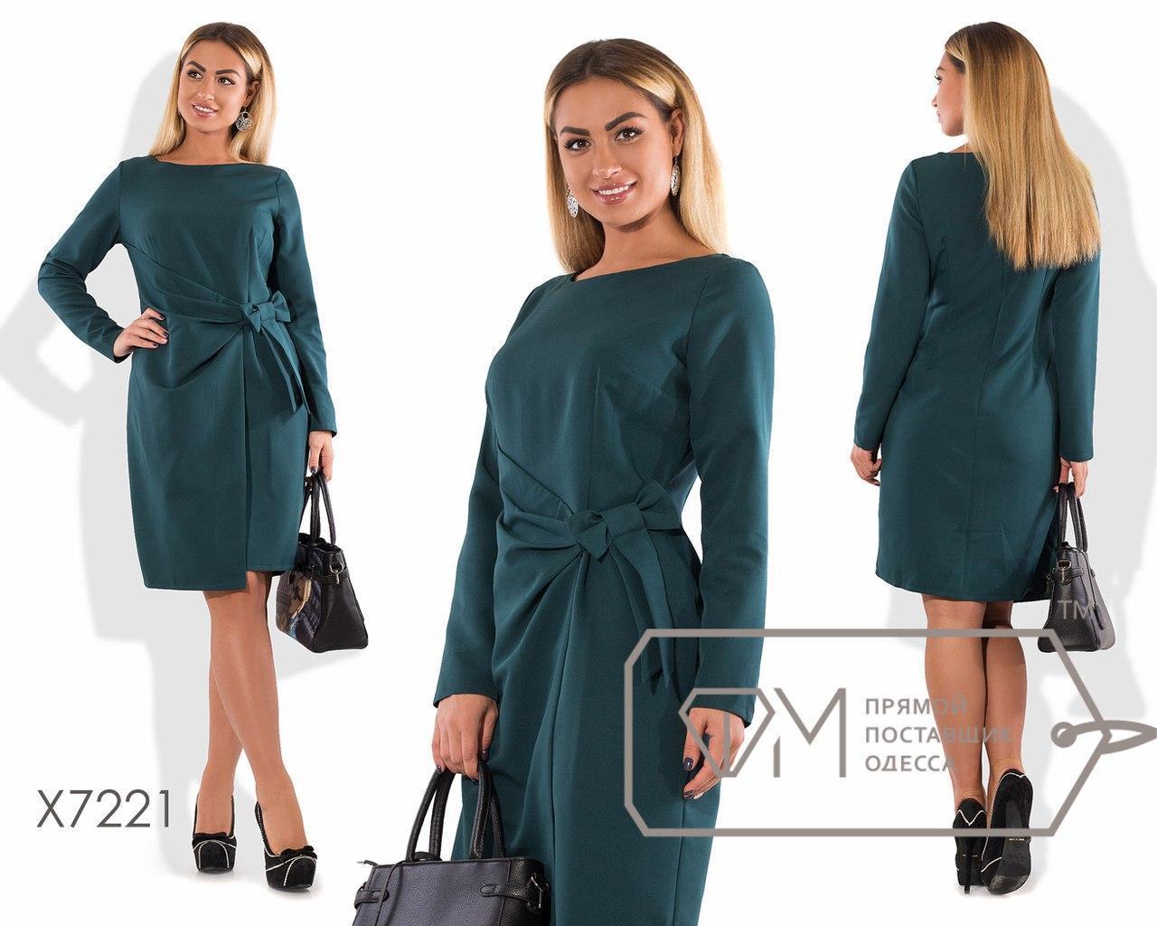 Женское платье большого размера до колена длиной с длинным рукавом fmx7221