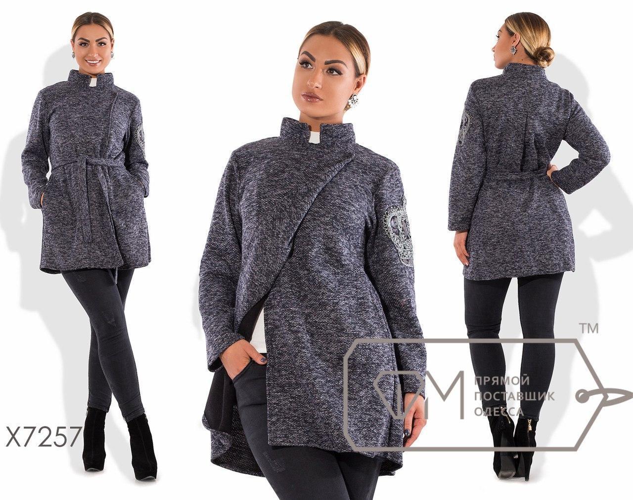 Буклированное пальто без подклада в больших размерах fmx7257