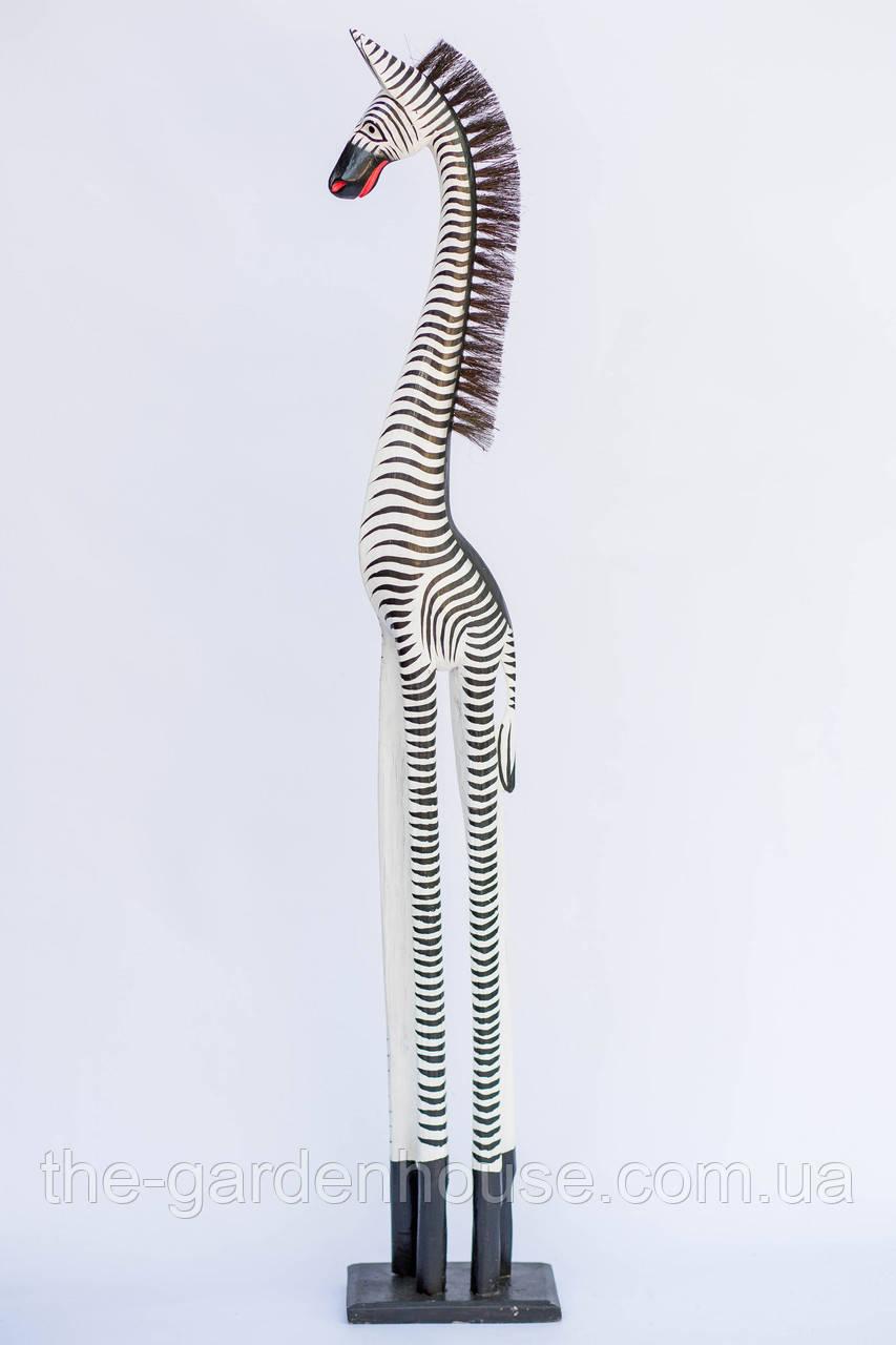 Статуэтка зебры черно-белой, 120 см