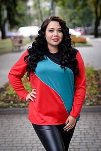 Женский джемпер большого размера трехцветный 10uk190