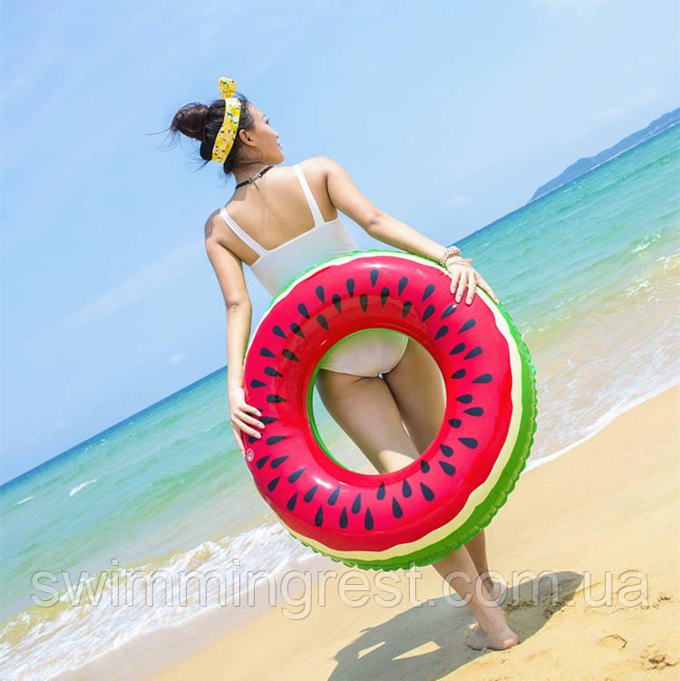 Надувной круг Арбуз для детей и взрослых 90 см