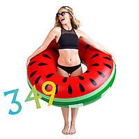 Надувной круг Арбуз для детей и взрослых 120 см