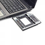 "Gembird MF-95-02, Адаптер HDD 2,5"" для ноутбука в отсек CD-ROM 12.5мм, фото 3"
